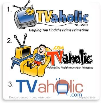 TVaholic.com Logo Design Concepts Batch 1