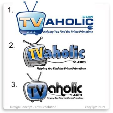 TVaholic.com Logo Design Concepts Batch 2