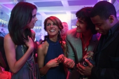 Jessica Stroup, Shenae Grimes, Michael Steger & Tristan Wilds in 90210 - Photo Credit: The CW