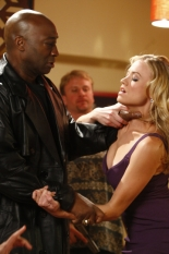Michael Clarke Duncan & Yvonne Strahovski in Chuck - NBC Photo: Trae Patton