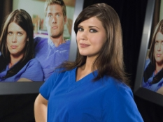 Sarah Lancaster in Chuck - NBC Photo: Trae Patton