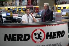 Zachary Levi & John Larroquette in Chuck - NBC Photo: Adam Taylor