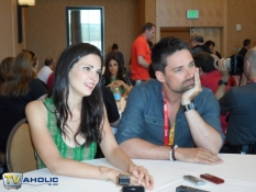 Laura Mennell and Warren Christie of Syfy's Alphas