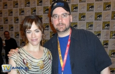 Maggie Siff of Sons of Anarchy & theTVaholic at Comic-Con 2012