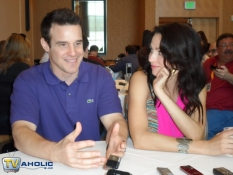 Warehouse 13\'s Eddie McClintock & Joanne Kelly at Comic-Con 2012