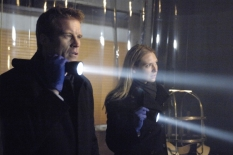 FRINGE: An unlikely trio uncovers a deadly mystery involving a series of unbelievable events and realizes they may be part of a larger, more disturbing pattern that blurs the line between the possible and the impossible on FRINGE premiering Tuesday, Sept. 9 (8:00-9:30 PM ET/PT) on FOX. Pictured: Mark Valley (L) and Anna Torv (R) ©2008 Fox Broadcasting Co. Cr: Ben Mark Holzberg/FOX