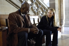 "FRINGE: Agent Phillip Broyles (Lance Reddick, L) briefs Agent Olivia Dunham (Anna Torv, R) about ""the pattern"" on FRINGE premiering Tuesday, Sept. 9 (8:00-9:30 PM ET/PT) with a special encore presentation Sunday, Sept. 14 (8:00-10:00 PM ET/PT) on FOX. ©2008 Fox Broadcasting Co. Cr: Ben Mark Holzberg/FOX"