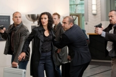Ilsa Pucci (Indira Varma, C) finds herself in need of Chance\'s services in the Human Target S.2 premiere.