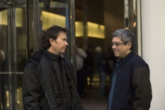 Timothy Hutton with director and executive producer Dean Devlin