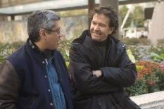 Director & executive producer Dean Devlin with Timothy Hutton