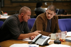 "PRISON BREAK: Michael (Wentworth Miller, R) and Lincoln (Dominic Purcell, L) return on the two-hour Season Four premiere episode of PRISON BREAK (""Scylla/Breaking and Entering\"") airing Monday, Sept. 1 (8:00-10:00 PM ET/PT) on FOX. ©2008 Fox Broadcasting Co. Cr: Greg Gayne/FOX"