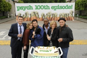 Psych Cast Celebrating 100 Episodes