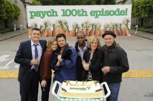 Psych Cast Celebrating 100 Episodes