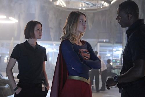 Leigh, Benoist & Harewood in CBS's Supergirl