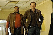 Anthony Anderson as Marlin Boulet and Cole Hauser as Trevor Cobb in the K-Ville Series Premiere on FOX