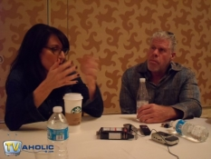 Katey Sagal & Ron Perlman of Sons of Anarchy at Comic-Con 2012