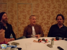 Ryan Hurst ,Theo Rossi & Kim Coates of Sons of Anarchy at Comic-Con 2012