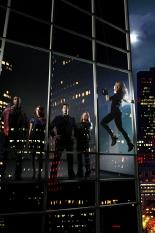 Aldis Hodge, Gina Bellman, Timothy Hutton, Christian Kane & Beth Riesgraf of Leverage on TNT