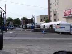 Cast Trailers and Dining Tent