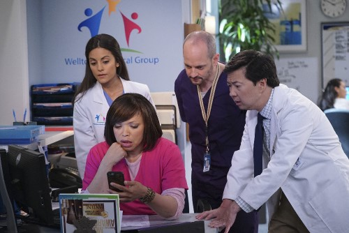 Photo of Simses, Campbell-Martin and Jeong in Dr. Ken