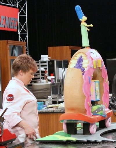 Bronwen Weber's Donut Cake from the Food Network The Simpsons Cake Challenge
