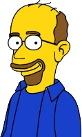 Jason the TVaholic after being Simpsonized