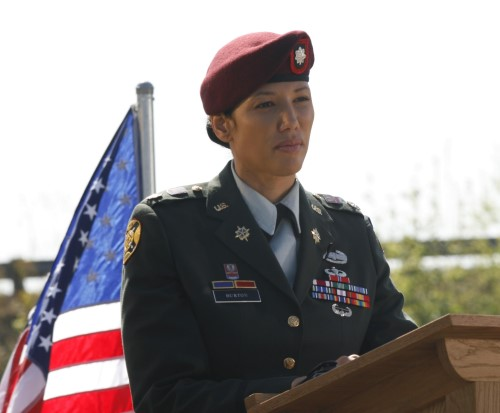 Joan Gives a Speech on Army Wives Season 2