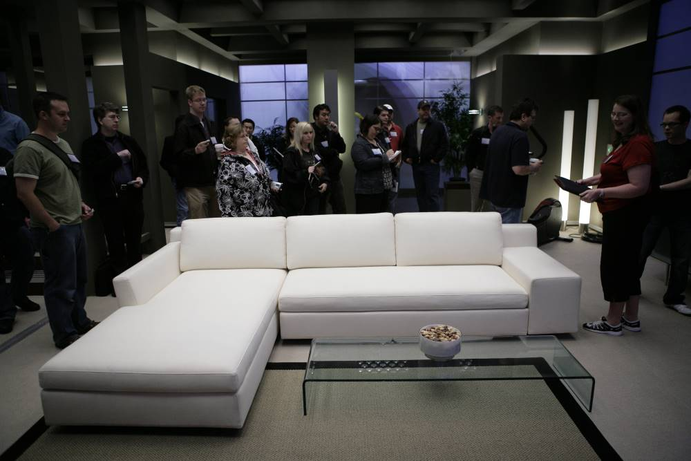 Neil Grayston Giving a Tour of the Eureka Smart House Living Room